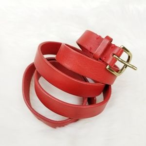 J.crew|Italian Leather Red Belt